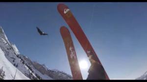 Безумное катание на горных лыжах