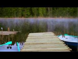 Рассвет на лесном озере. Карелия. Турбаза Ламбушка.