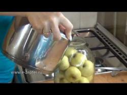 Компот из целых яблок / Whole apples kompot recipe