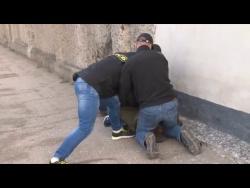Задержание одного из украинских террористов в Севастополе