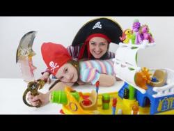 Видео про игрушки Лалалупси. Теперь мы пираты! Новые игры с Гёрл Квест. Маленькие пони Лалалупси.