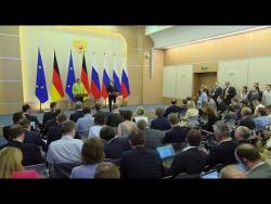 Пресс-конференция по итогам встречи с Ангелой Меркель