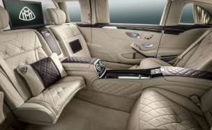 Лимузин Mercedes-Maybach S 600 Pullman представили в Москве