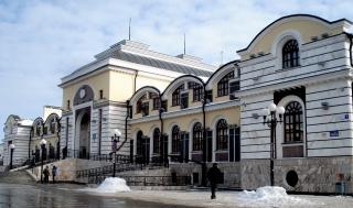 Вокзал в Чебоксарах.