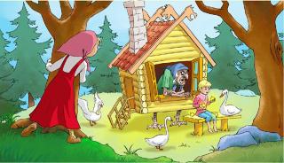 Куда ходила Аленушка за братцем Иванушкой в сказке про Гусей- лебедей?