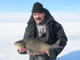 19 марта 2011, Чудское озеро, лещ 2850 г