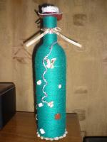Плетёные бутылочки.