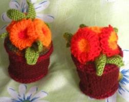 Цветочки в горшочках