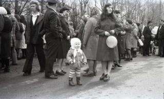 1 Мая 1979 года. Собираемся на праздничную демонстрацию.