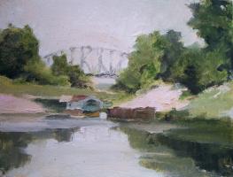 река Медведица. У ж/д моста