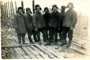 Строители нового города. 1956 г.