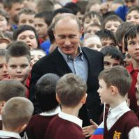 Дедушка Путин и дети...