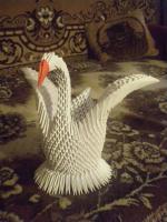 Как из белой бумаги сделать лебедя из 925