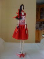 Тряпичная интерьерная кукла