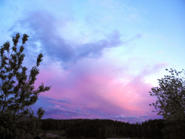Закат,перед грозой.
