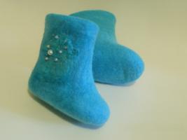 Бирюзовые ботинки