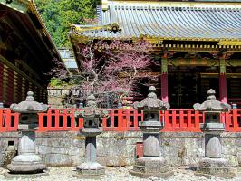 Фонари храмового комплекса Тосёгу