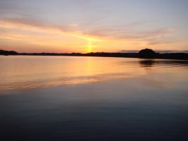 Финляндия.Закат над озером Сайма.
