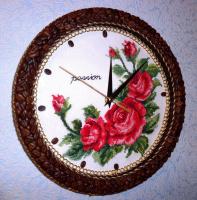 """Часы """"Кофе и розы"""""""