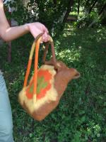 сумка-рюкзачек валяная