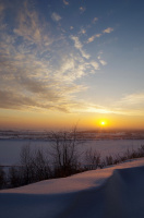 Палитра зимнего заката