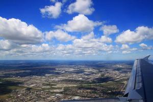 За крылом самолёта - Виннипег ( + 2 снимка)