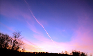 Закат над нашим посёлком!