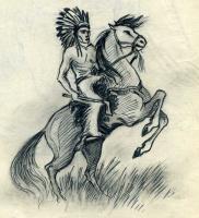 Индеец с томагавком