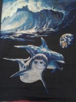 """Вышивка """"Дельфины. Космический океан"""""""