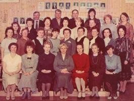 Коллектив школы №2 в 1989 году.