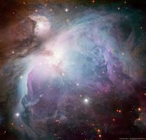Снимок туманности Ориона, сделанный телескопом MPG/ESO 2.2