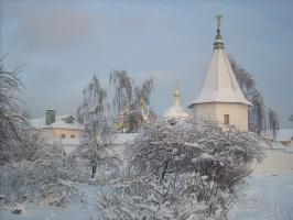 Екатерининский мужской монастырь зимой
