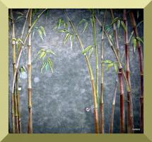 Бамбук. Барельеф, роспись.