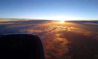 Закат, перешедший в рассвет.