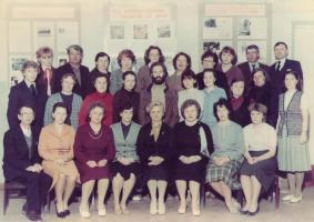Коллектив школы №2 в 1987 году.