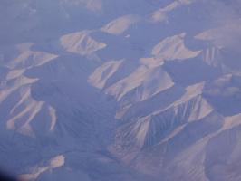 Снежные горы с высоты 10000 м