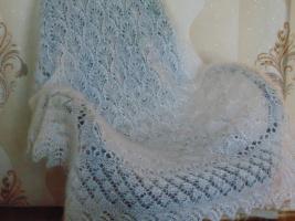 Ажурный платок из козьего пуха