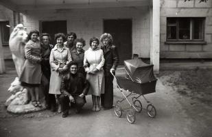 Жители и гости общежития. 1984 год.