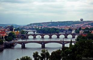 Река Влтава,Чехия,Прага