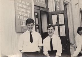 Май 1966 года. Последний звонок. Фото Вали Немковой (Корниловой).