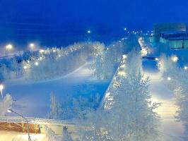 Раннее утро в Сибири...