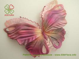 Бабочки из шелка своими руками!