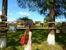 """""""Родная сторона"""". Фотовыставка на природе. """"День города"""". Парк. 25 июля 2012."""