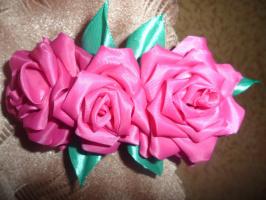 """Заколка для волос """"Розы"""""""