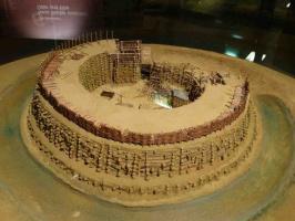 Макет славянской крепости Раддуш. 9 век. Археологический музей Бранденбурга, Германия.