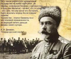 """Деникин о так называемой """"украинской государственности"""""""