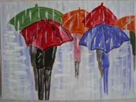 Эти летние дожди.  акварель