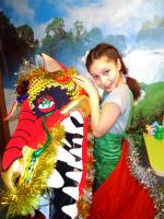 Сказочный китайский дракон, автор игрушки-костюма - Маша Кузнецова, 12 лет, г. Балашов