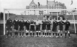 Сборная по футболу Российской Империи на летних Олимпийских играх в Стокгольме, 1912 год.