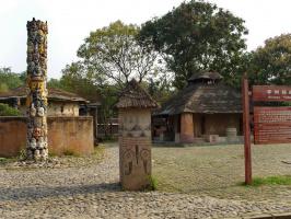 Африканская деревня в парке Мира